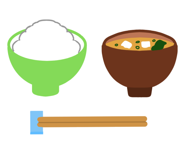 ご飯とみそ汁のイラスト 無料イラスト素材素材ラボ