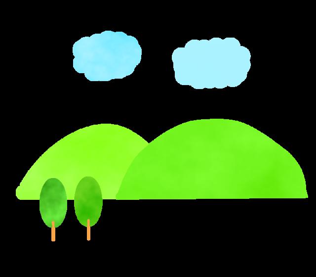 山と雲のイラスト 無料イラスト素材素材ラボ