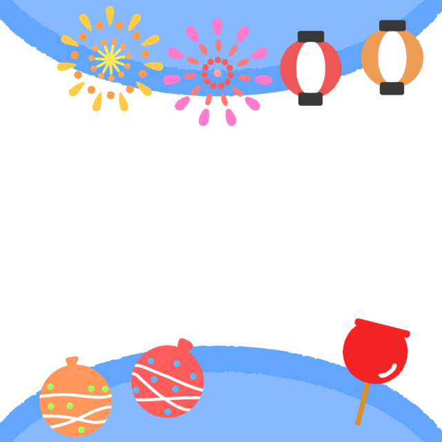 夏祭フレームのイラスト 無料イラスト素材素材ラボ