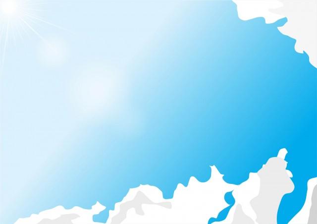 空と雲のフレームイラスト 無料イラスト素材素材ラボ