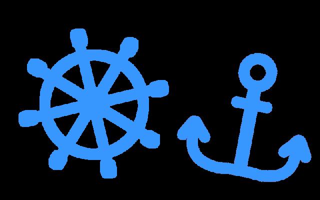 イカリと舵のイラスト 無料イラスト素材素材ラボ
