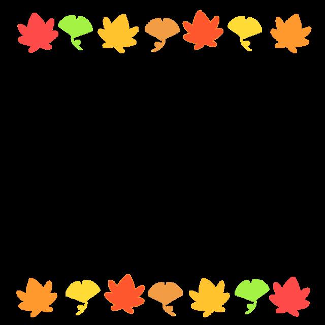 紅葉とイチョウのフレームイラスト 無料イラスト素材 素材ラボ