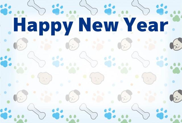 戌年年賀状k犬アイコンパターンのイラスト 無料イラスト素材素材ラボ