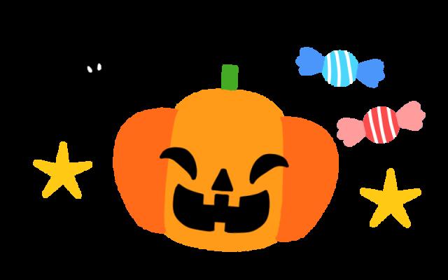 ハロウィンのかぼちゃとコウモリのイラスト 無料イラスト素材素材ラボ