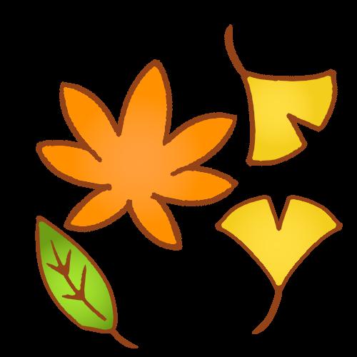 秋の紅葉銀杏のイラスト 無料イラスト素材素材ラボ