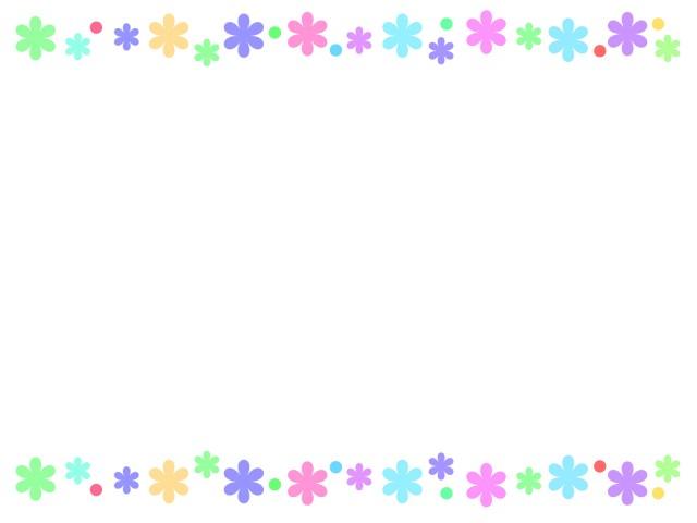 花柄ライン 無料イラスト素材素材ラボ