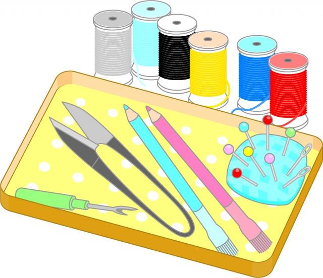 裁縫道具 無料イラスト素材素材ラボ
