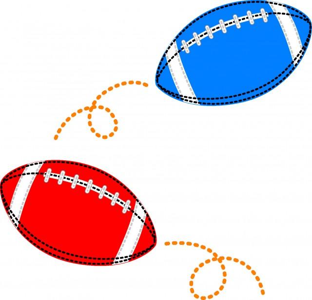 ラグビーボールのアップリケ 無料イラスト素材素材ラボ