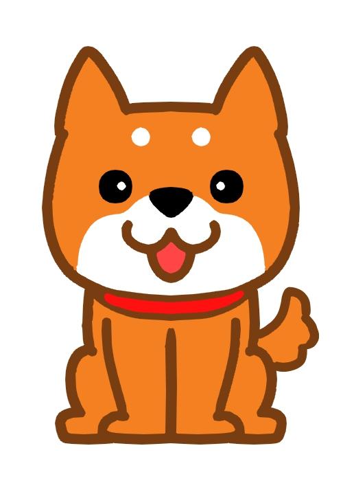 おすわりしている柴犬のイラスト 無料イラスト素材素材ラボ