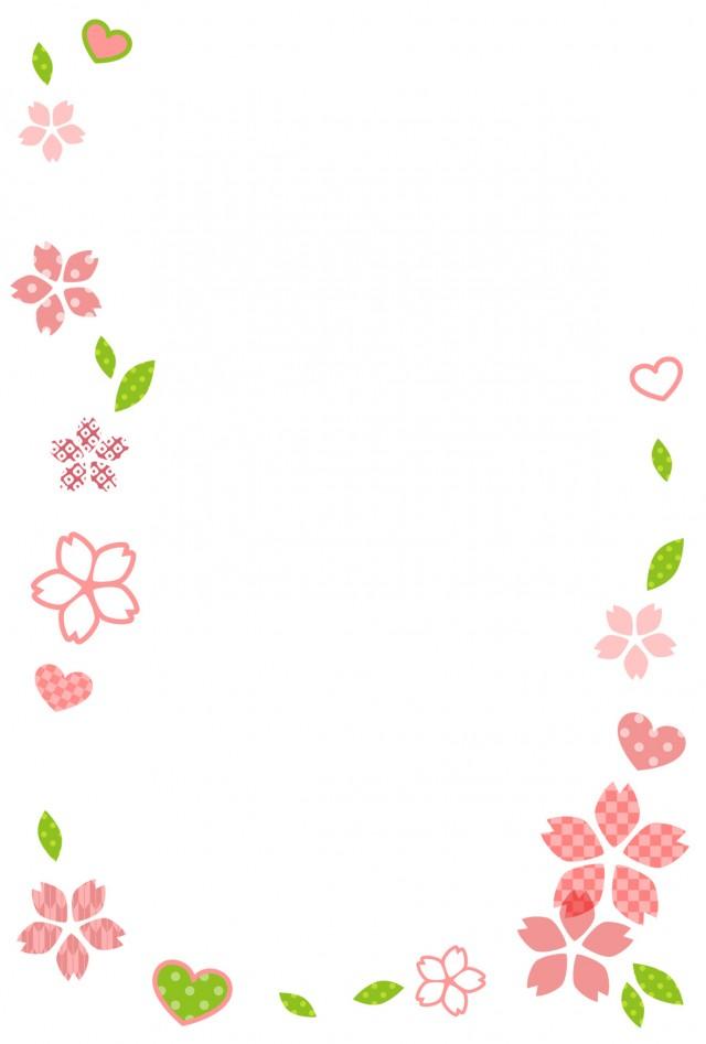 和風なかわいい桜…