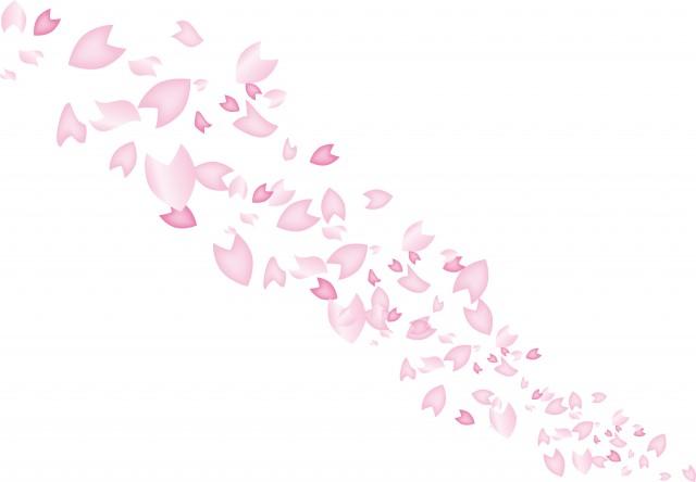 サクラの花びら 背景用 無料イラスト素材素材ラボ