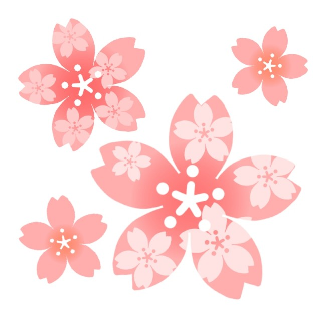 さくら模様の桜のイラスト 無料イラスト素材素材ラボ
