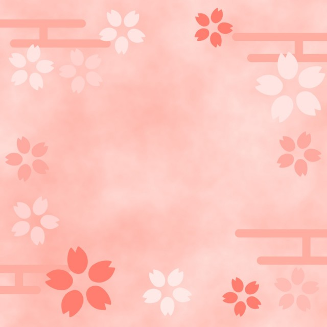 桜の和柄模様イラスト 無料イラスト素材素材ラボ