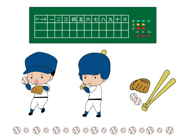 野球のイラストセ…
