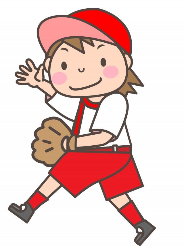 女子ソフトボール部 グローブを持っている部員 無料イラスト素材素材ラボ