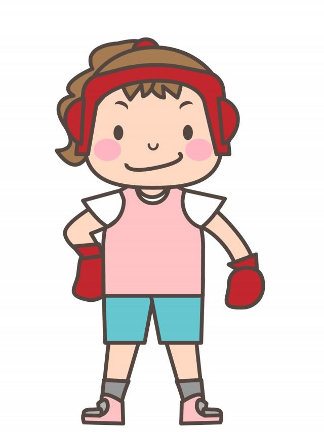 女子 ボクシング イラスト