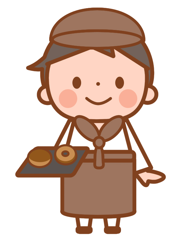 パン屋の男の子 無料イラスト素材素材ラボ