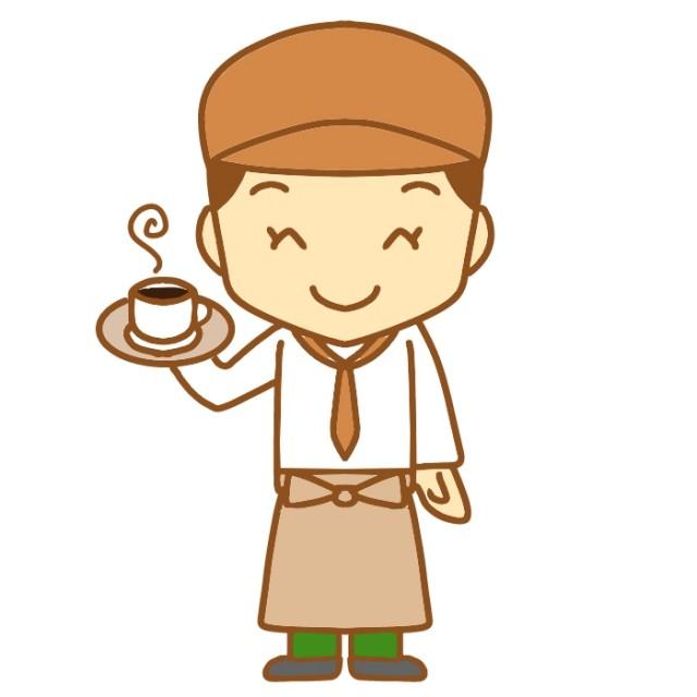 カフェ店員のイラスト 無料イラスト素材素材ラボ