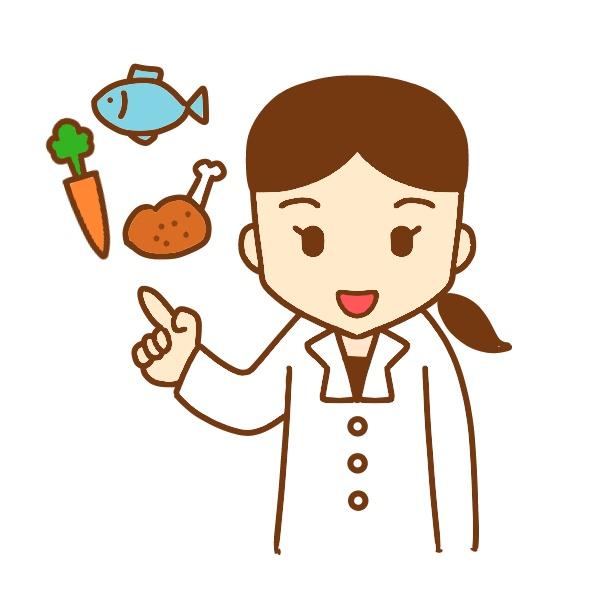 指差ししている栄養士イラスト 無料イラスト素材素材ラボ