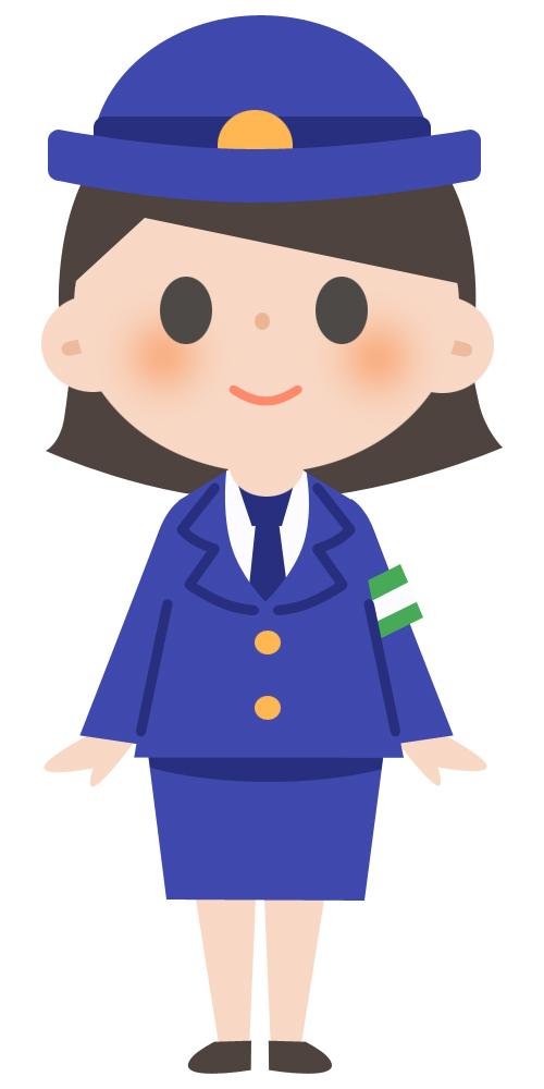 可愛い警察官の女性 無料イラスト素材素材ラボ