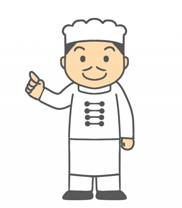 指差しする中華料理店のイラスト 無料イラスト素材素材ラボ