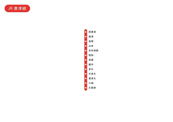 JR筑肥線(姪浜-唐津)の路線図 - NAVITIME