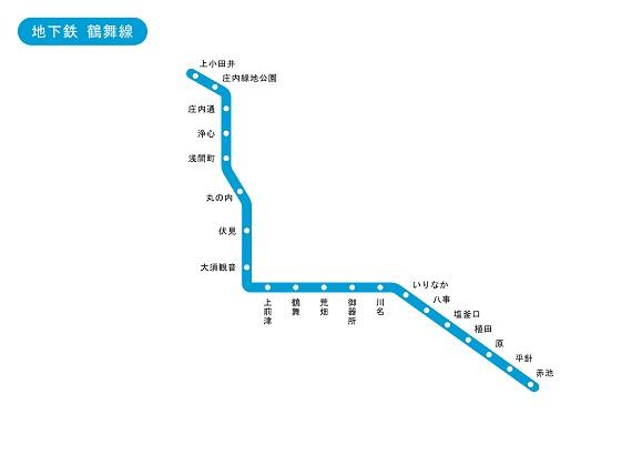 愛知県 地下鉄 鶴舞線 路線図 無料イラスト素材素材ラボ