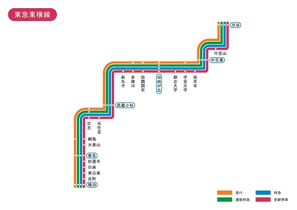 東京都 東急東横線 路線図 無料イラスト素材素材ラボ