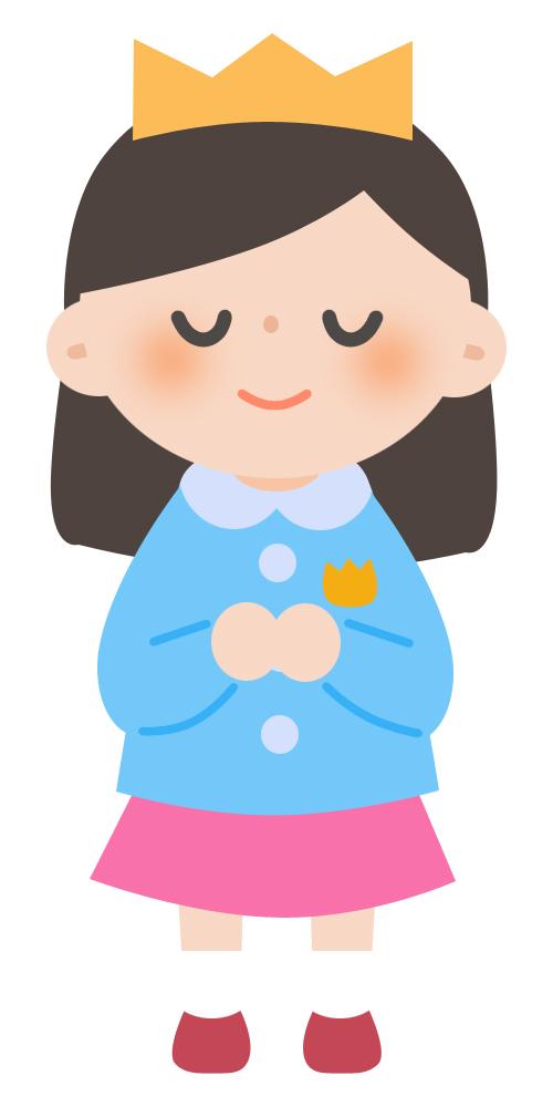 学校プリント用 お遊戯会 お姫様の仮装 無料イラスト素材素材ラボ
