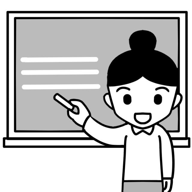 チョークで黒板に文字を書く児童のイラスト 無料イラスト素材素材ラボ