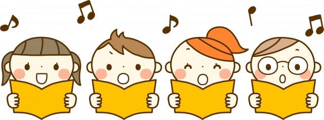 合唱をする子供たち 無料イラスト素材素材ラボ