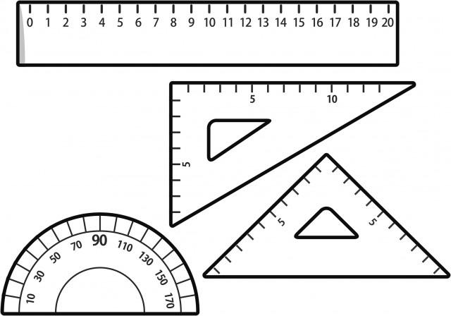 定規のセット 無料イラスト素材素材ラボ