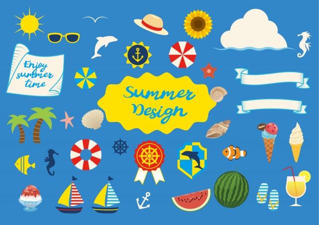 夏イラストセット02 無料イラスト素材素材ラボ