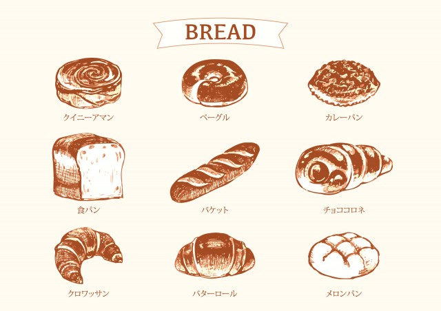 パンのスケッチイラスト 無料イラスト素材素材ラボ