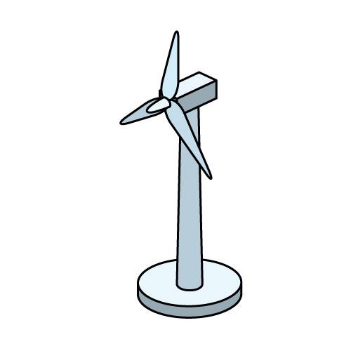 風力発電機 無料イラスト素材素材ラボ