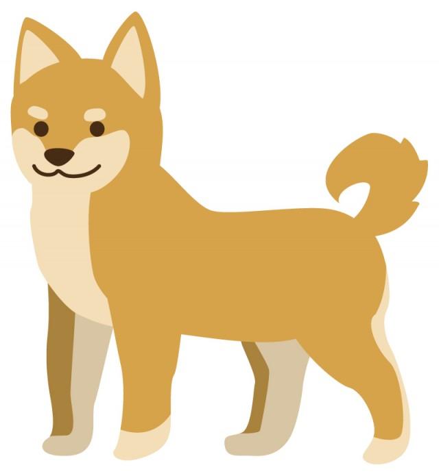 柴犬のイラスト 無料イラスト素材素材ラボ