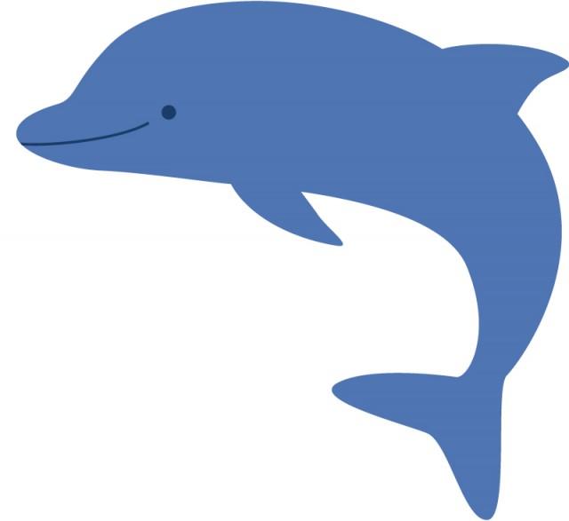 イルカのイラスト 無料イラスト素材素材ラボ