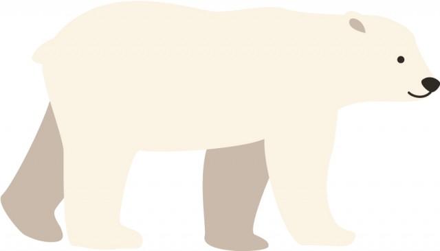 シロクマのイラスト 無料イラスト素材素材ラボ