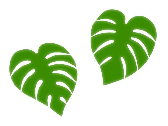 観葉植物モンステラの背景イラスト壁紙素材 無料イラスト素材素材ラボ