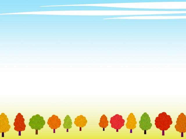 秋の風景フレーム壁紙イラスト背景素材 無料イラスト素材 素材ラボ