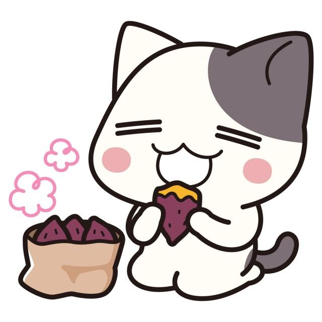 焼き芋おいしいぶち猫 にゃんこ 無料イラスト素材素材ラボ