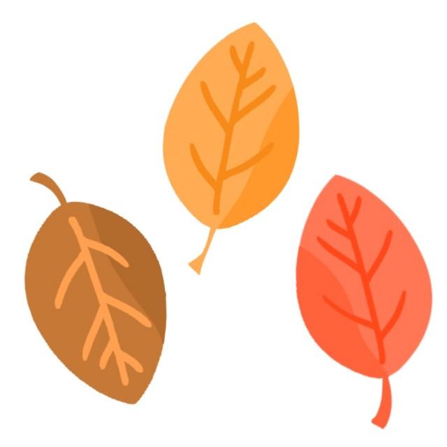 3カラーの枯れ葉のイラスト 無料イラスト素材素材ラボ