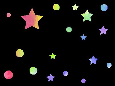 カラフル水彩風ドットと星の背景イラスト 無料イラスト素材 素材ラボ