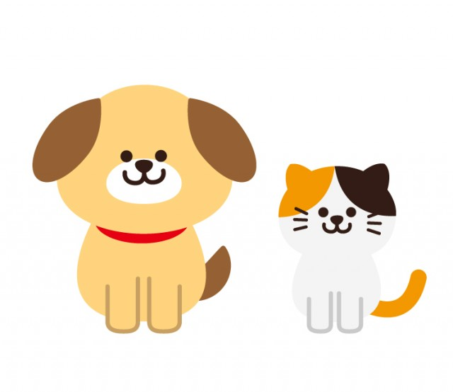 猫と犬のイラスト 無料イラスト素材素材ラボ