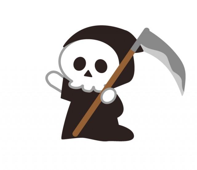 ハロウィンに死神の仮装した子供 無料イラスト素材素材ラボ