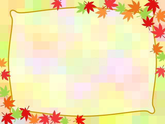 もみじ柄の壁紙フレーム背景素材イラスト 無料イラスト素材素材ラボ