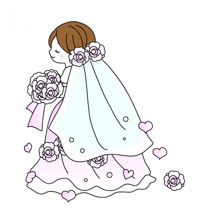ウエディングドレス花嫁イラスト