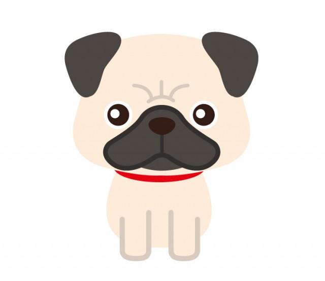 パグの動物ペットのイラスト 無料イラスト素材素材ラボ