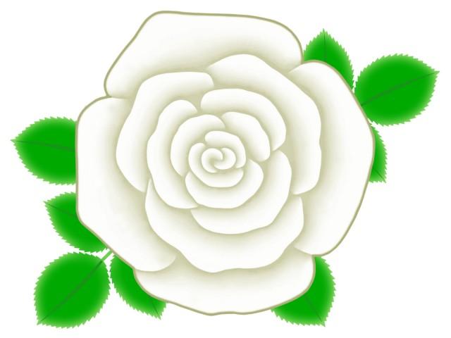 バラの花のワンポイントイラスト背景素材 無料イラスト素材素材ラボ