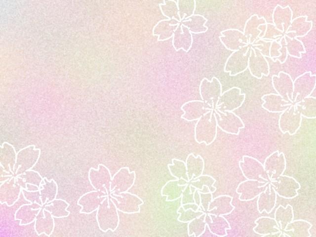 桜の花模様の壁紙 手描き線画背景素材イラスト 無料イラスト素材 素材ラボ